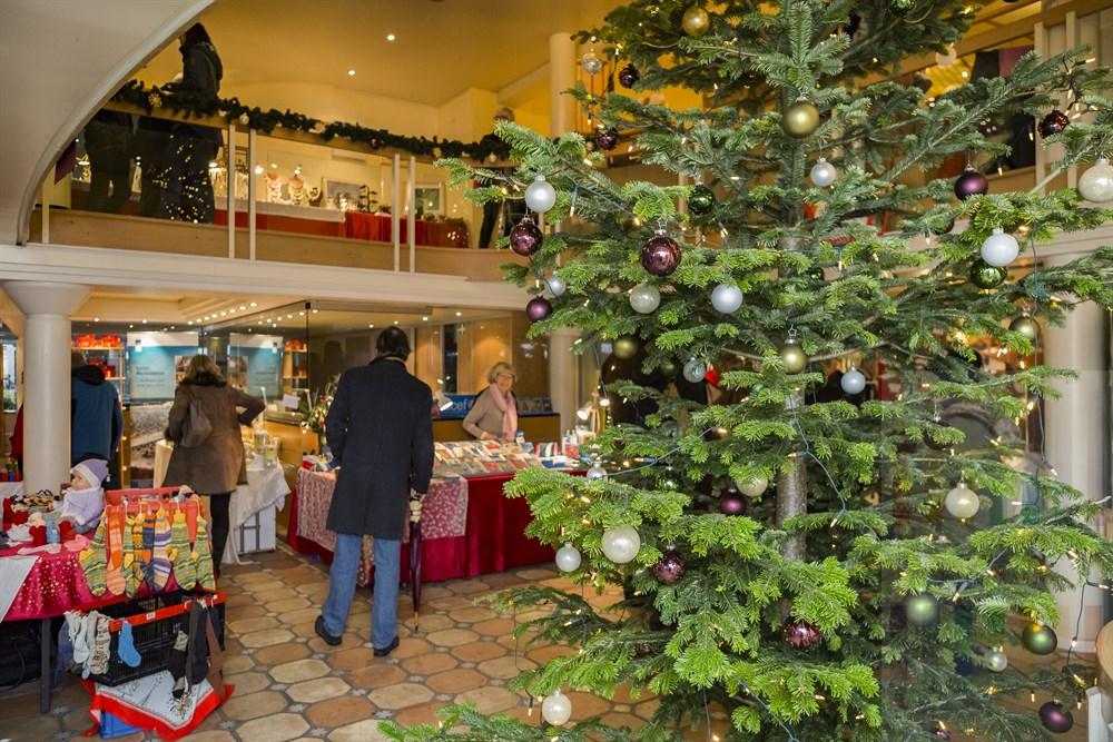 Weihnachtsmarkt im Kaamp Hüs in Kampen/Sylt, Innenaufnahme