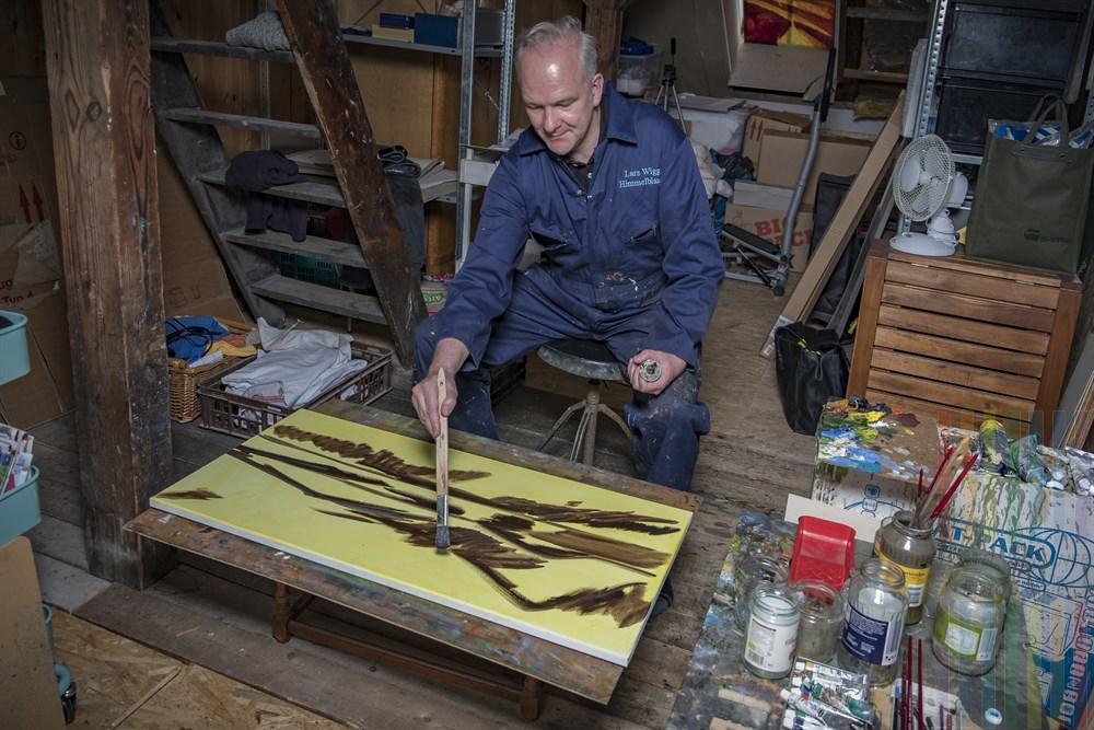 Der Sylter Maler Lars Wiggert lebt in Hamburg