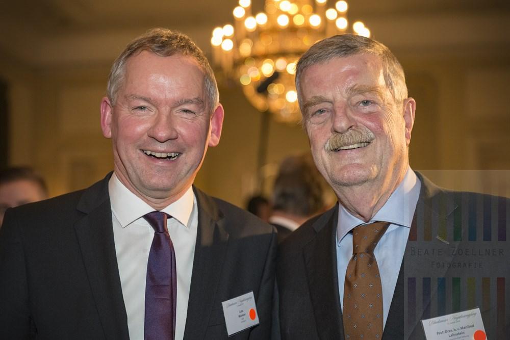 Lutz Marmor (NDR Intendant) mit Prof. Dres. h. c. Manfred Lahnstein