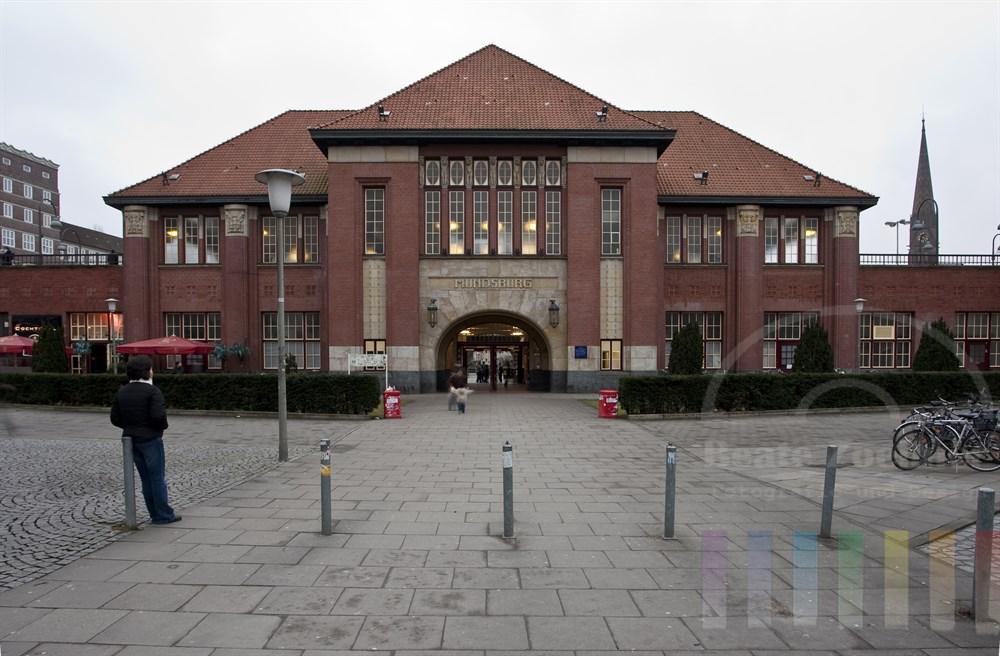 Der denkmalgeschützte U-Bahnhof in Hamburg-Mundsburg