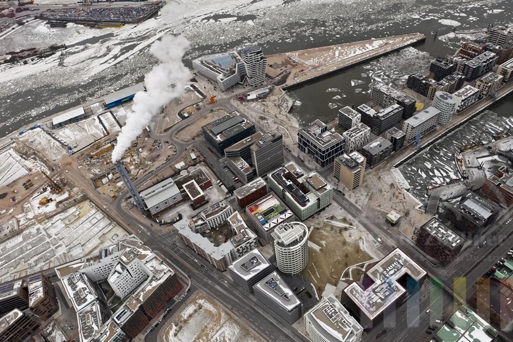 Luftfoto: Ueberseequartier in der Hafencity