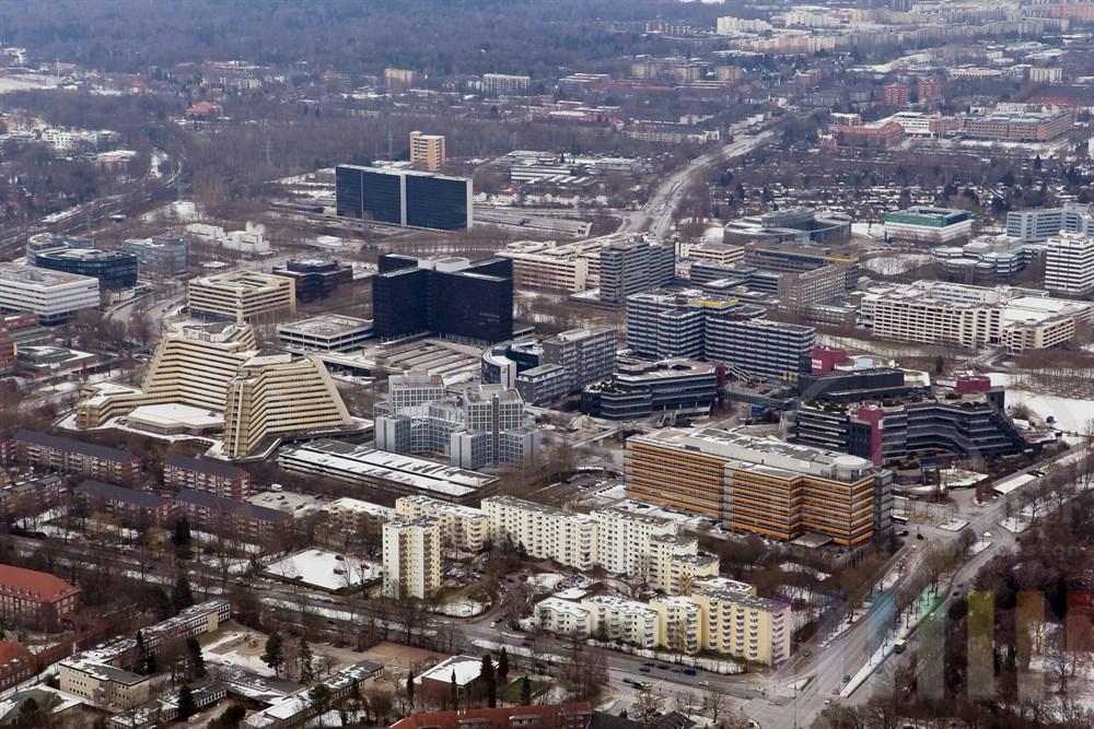 Luftfoto City Nord, winterlich