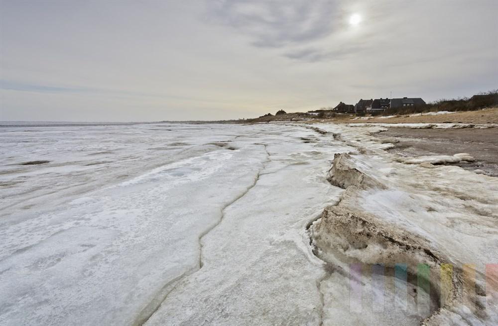 Vereiste Wattenmeerküste vor Munkmarsch/Sylt