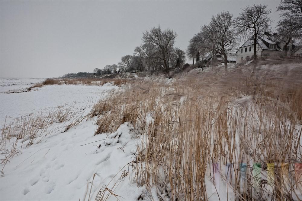 Eisige Wattenmeerkueste vor Keitum/Sylt