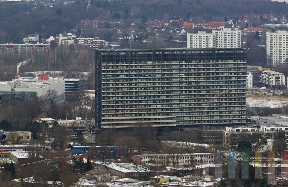 Luftfoto Krankenhaus Altona, winterlich