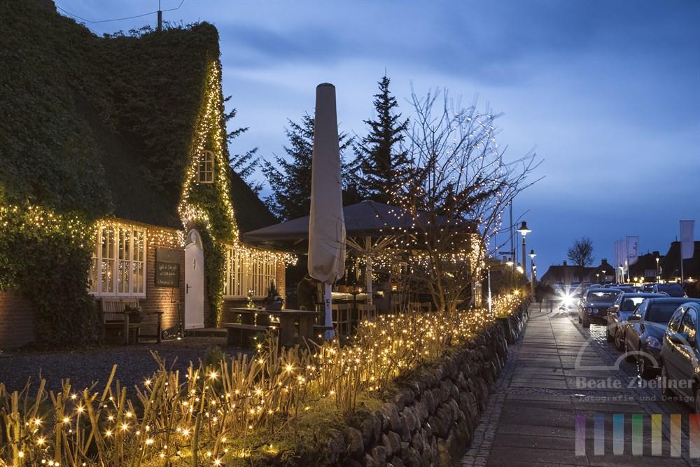 Weihnachtsbeleuchtung  in Kampen/Sylt