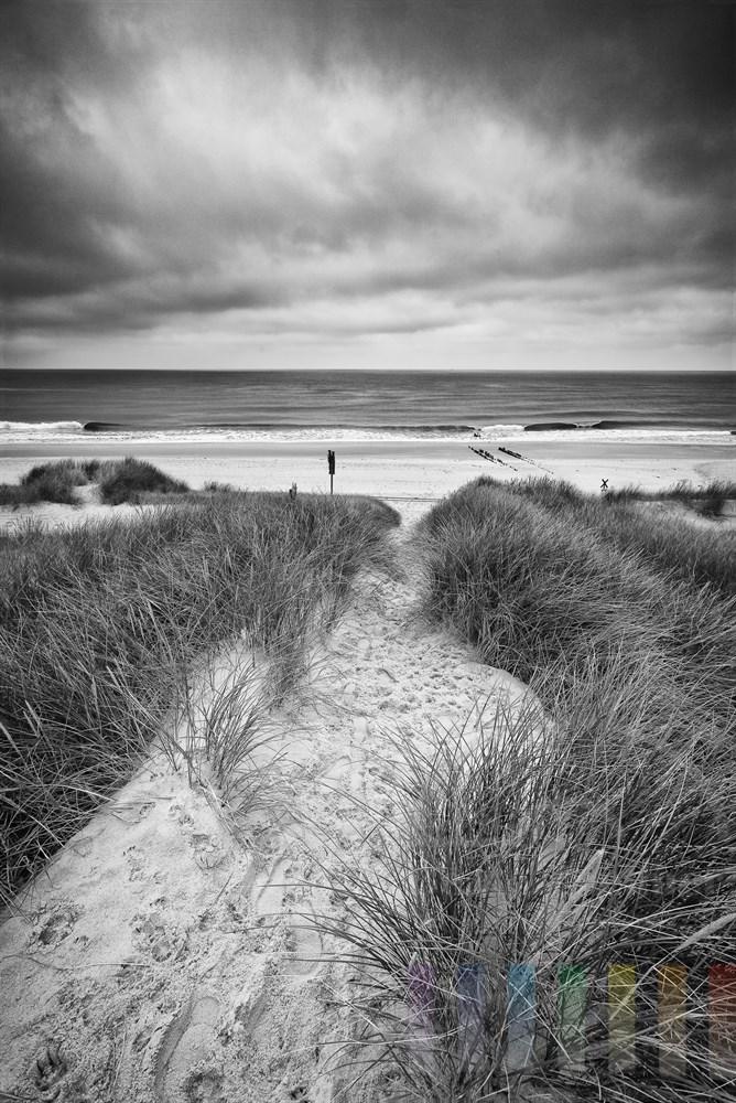 Weg durch Dünen zum Sylter Nordseestrand