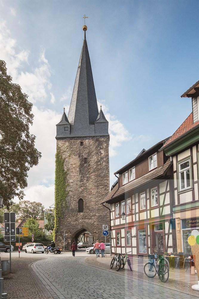 Das Westertor ist das einzige erhaltene Stadttor der historischen Altstadt von Wernigerode. Der Turm ist 41 Meter hoch.