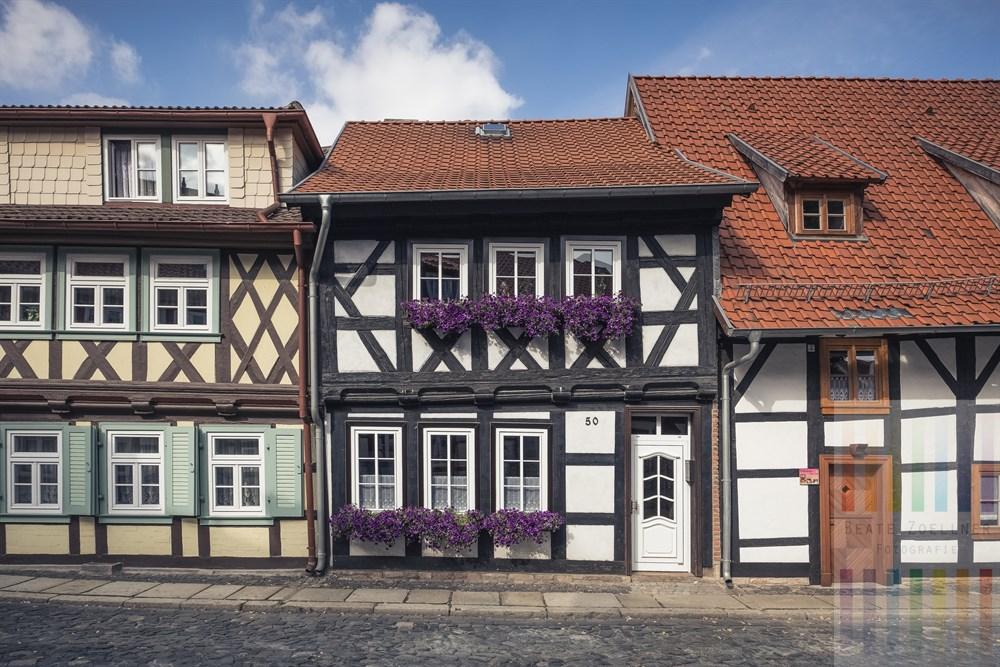 Restaurierte historische Wohnhäuser in Wernigerode am Harz