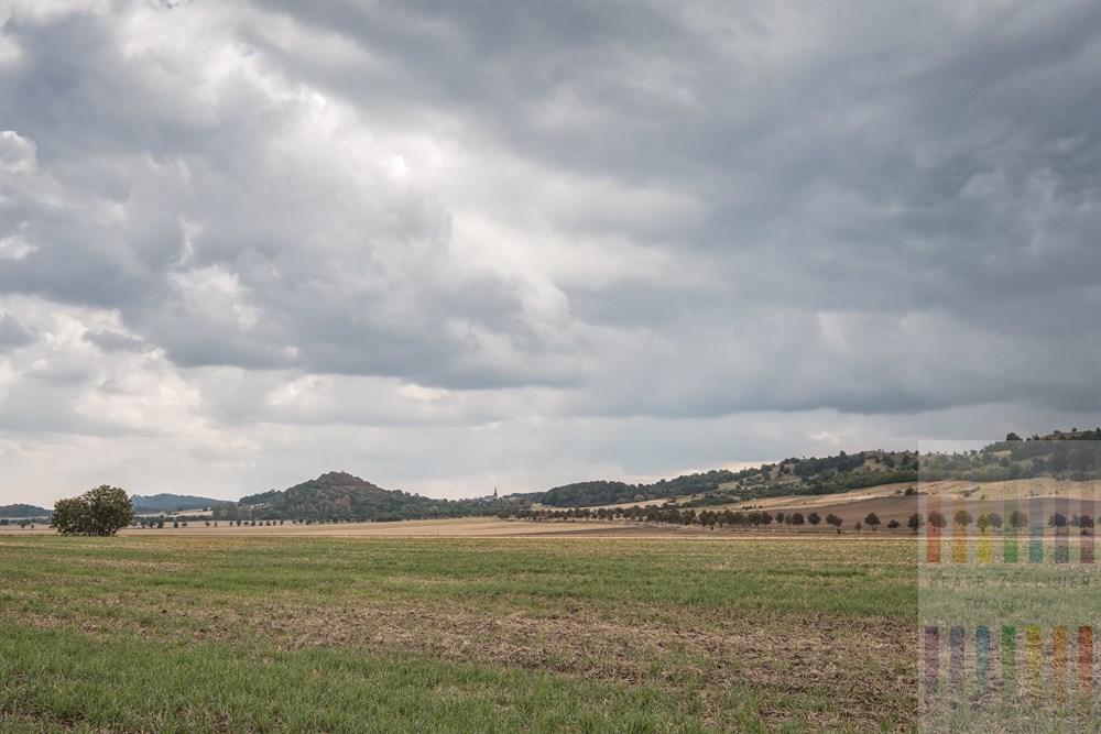 Fast schon herbstliche Landschaft bei Heimburg (Sachsen-Anhalt) am Fuße des Ostharzes.
