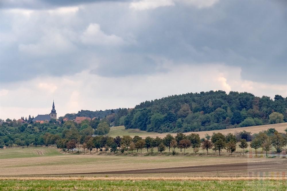 Blick auf die Ortschaft Heimburg am Fuße des Harzes