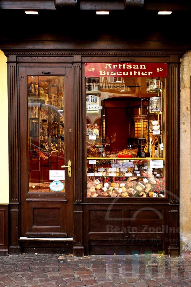 Geschäft mit kulinarischen Spezialitäten aus dem Elsass in der Altstadt von Colmar