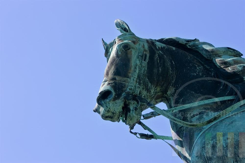 Detailaufnahme eines Reiterstandbildes