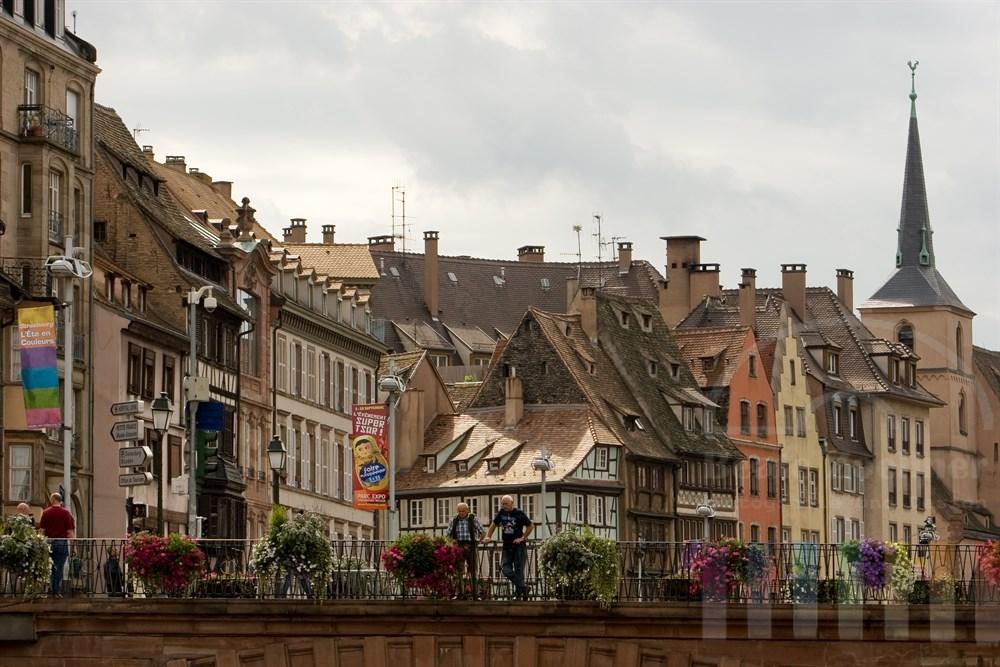 Strassenszene in Strassburg