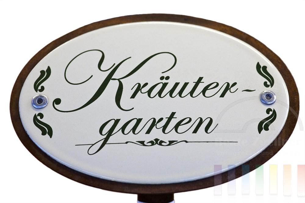 """Freisteller: Emaille-Schild """"Kräutergarten"""""""