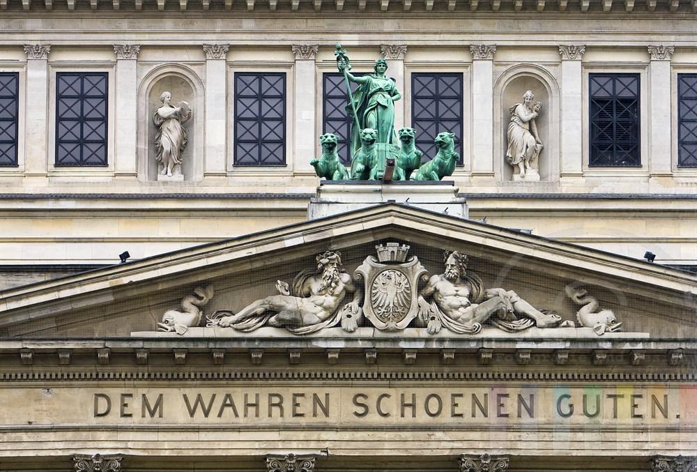 Alte Oper Frankfurt, Detailansicht Portal-Inschrift