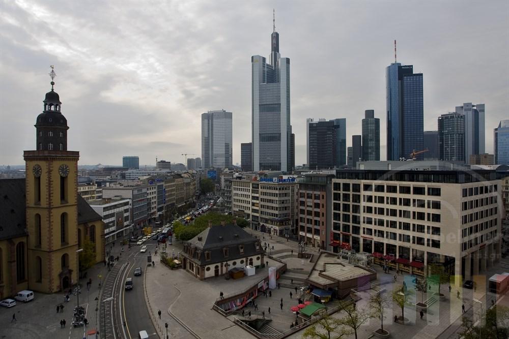 Blick auf die Hauptwache im Stadtzentrum von Frankfurt am Main
