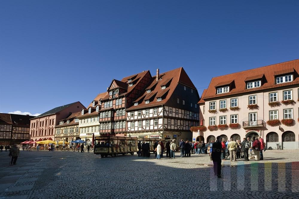 Marktplatz der mittelalterlichen Quedlinburg (UNSECO-Weltkulturerbe)