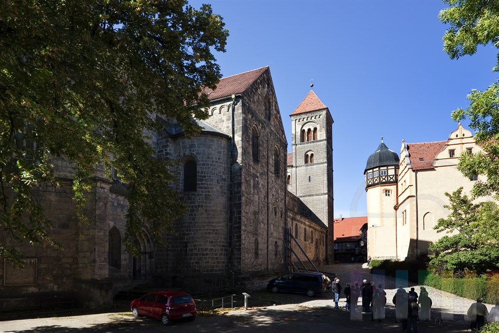 Stiftskirche St. Servatius auf dem Schlossberg der Stadt Quedlinburg